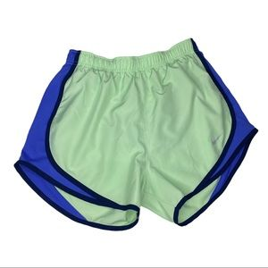 Nike Running Shorts Mint Green and Blue Size Small